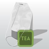 Vector  tea bag Stock Images