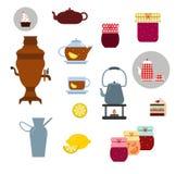 Vector tea ceremony icons set Royalty Free Stock Photography