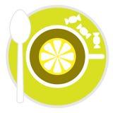 Vector tea icon royalty free stock photography