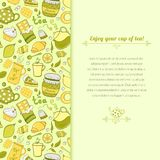 Vector tea illustration for template card Royalty Free Stock Photo