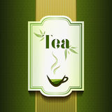 Vector tea label Royalty Free Stock Images