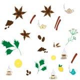 Vector tea pattern Royalty Free Stock Image