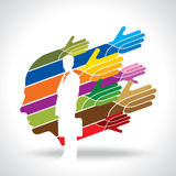 Vector of teamwork in business Royalty Free Stock Images