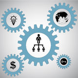 Vector teamwork concept Stock Image