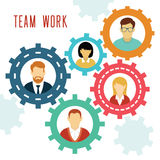 Vector Teamwork Gears Concept. Stock Photography