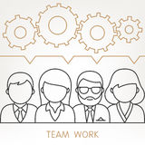 Vector Teamwork Gears Concept. Royalty Free Stock Photography