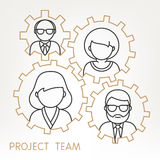 Vector Teamwork Gears Concept. Royalty Free Stock Image
