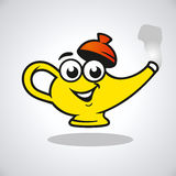 Vector teapot character Royalty Free Stock Photos