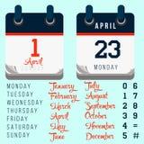 Vector tear-off day calendar stock illustration