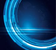 Vector tech circle and technology background. Abstract backgrounds Stock Image
