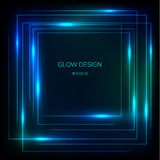Vector tech design glowing frame Stock Image