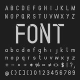 Vector tech font, Typeface and numbers Royalty Free Stock Photos