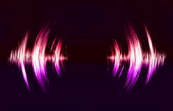 Vector techno background with crcular sound vibration. Stock Photos