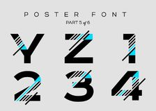 Vector Techno Font with Digital Glitch Text Effect. Stock Photography