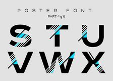 Vector Techno Font with Digital Glitch Text Effect. Royalty Free Stock Photo
