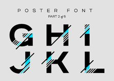 Vector Techno Font with Digital Glitch Text Effect. Stock Images