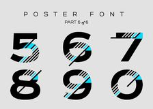 Vector Techno Font with Digital Glitch Text Effect. Royalty Free Stock Images