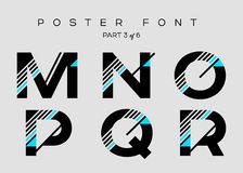 Vector Techno Font with Digital Glitch Text Effect. Stock Photos