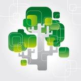Vector techno tree Royalty Free Stock Photography