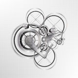 Vector technological mechanic gear background Stock Images
