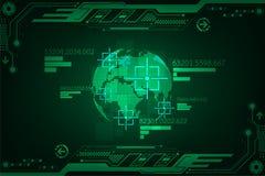 Vector Technologie im Schnittstellenkonzept, um Sachen auf dem Planeten zu finden Stockfotos