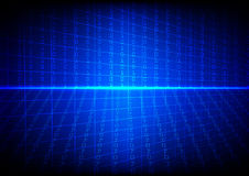 Vector technology  binary code with grid on blue  background Royalty Free Stock Photography