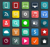 Vector technology business flat icons Stock Photo
