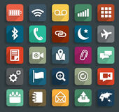 Vector technology business flat icons Royalty Free Stock Image