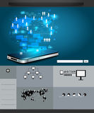 Vector Technology business, infographics and Information technology Royalty Free Stock Image