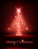 Vector technology christmas tree stock illustration