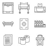 Vector technology icons Royalty Free Stock Image