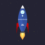 Vector technology ship rocket startup innovation. Stock Photography