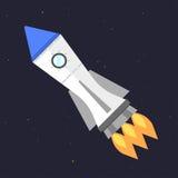 Vector technology ship rocket startup innovation. Royalty Free Stock Image