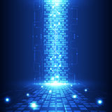 Vector a tecnologia futura da engenharia abstrata, fundo bonde das telecomunicações