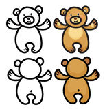 Vector  teddy bears. Royalty Free Stock Images