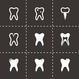 Vector teech icon set Stock Images