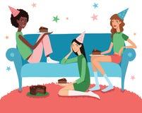 Vector Teenage Girl's Birthday Party Illustration  Stock Photos