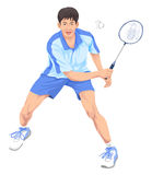 Vector of teenager playing badminton. Royalty Free Stock Photography