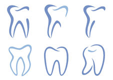 Vector teeth Royalty Free Stock Photo