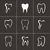 Vector teeth icon set Royalty Free Stock Photography