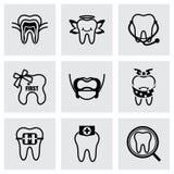 Vector Teeth icon set Royalty Free Stock Photo