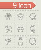 Vector Teeth icon set Royalty Free Stock Images