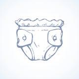 Vector tekening diaper royalty-vrije illustratie