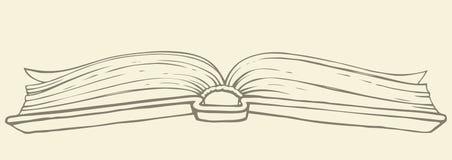 Vector tekening Open boek in hardcover vector illustratie