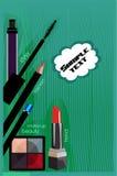 Vector tekening van de moderne schoonheidsmiddelen Stock Afbeelding