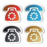 Vector telefoonstickers royalty-vrije illustratie