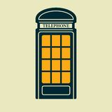 Vector telephone box icon. Eps10 Stock Photography