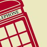 Vector telephone box icon. Eps10 Royalty Free Stock Images