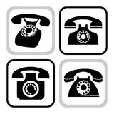 Vector telephone collection Stock Images