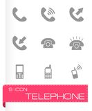 Vector telephone icon set Royalty Free Stock Photography